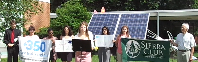 Albemarle students organized and conducted a press conference in support of solar on June 23, 2014 outside Henley Middle School.