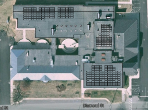 Preliminary site design of 91.5 kW solar system