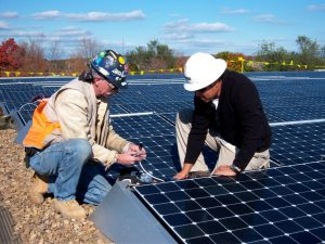 The solar installation at Eastern Mennonite University enabled the university to go solar with no capital expenditure