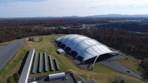 Solar power system at Insurance Institute for Highway Safety